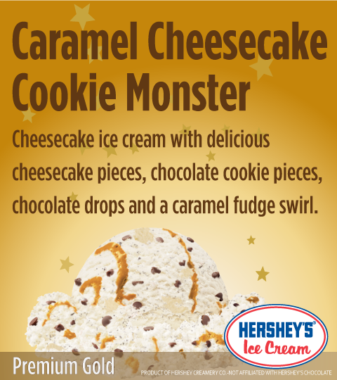 Caramel Cheesecake Cookie Monster