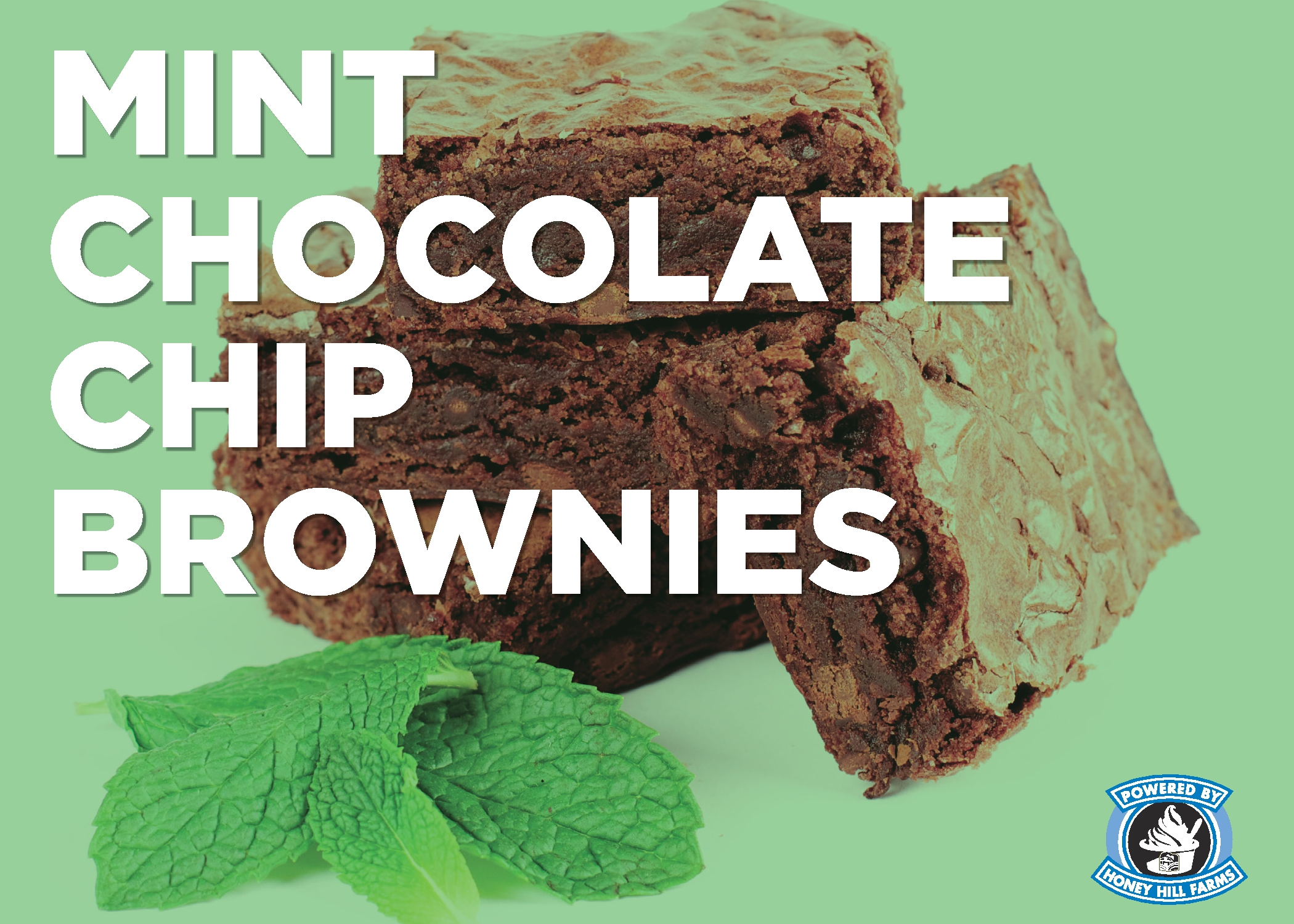 Mint Chocolate Chip Brownies