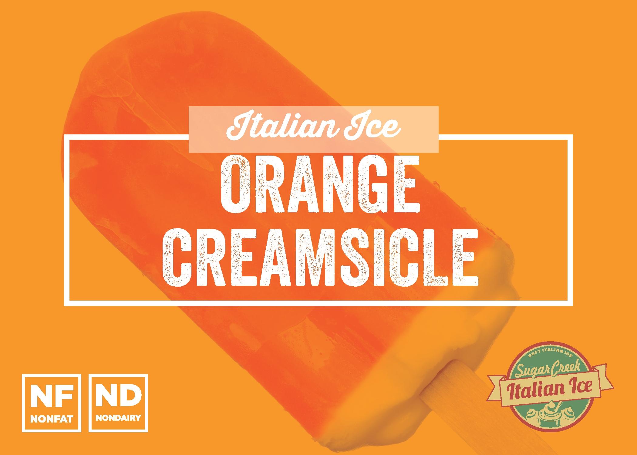 Orange Creamsicle Italian Ice