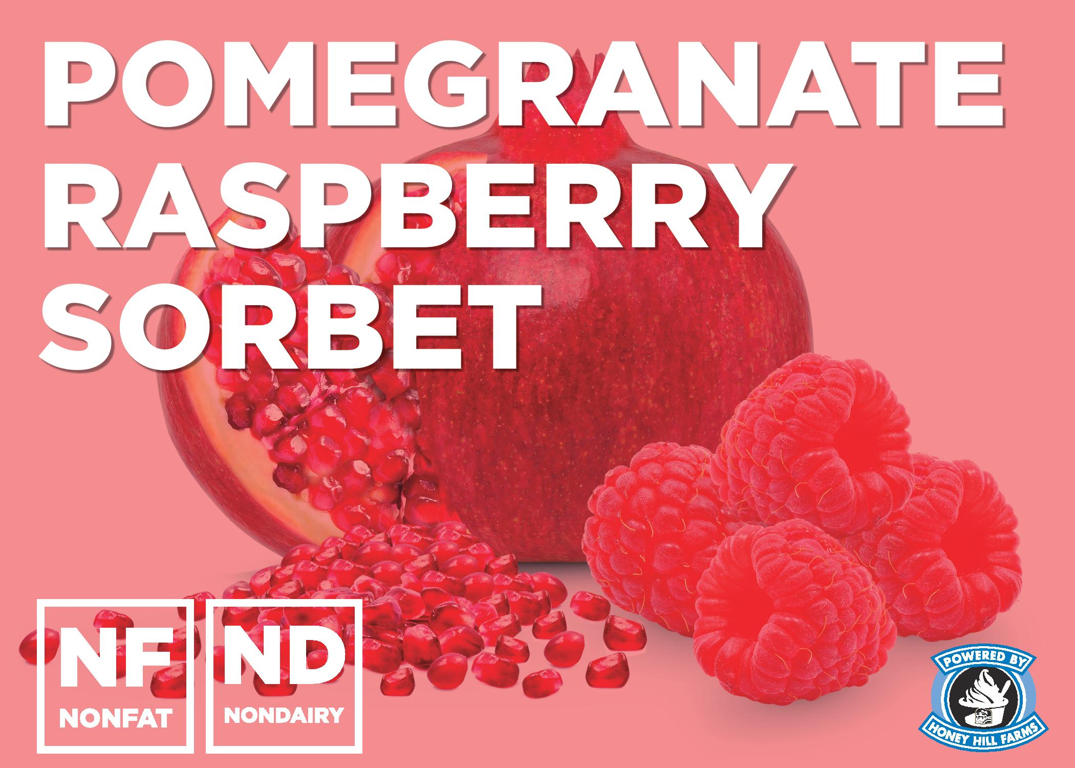 Pomegranate Raspberry Sorbet