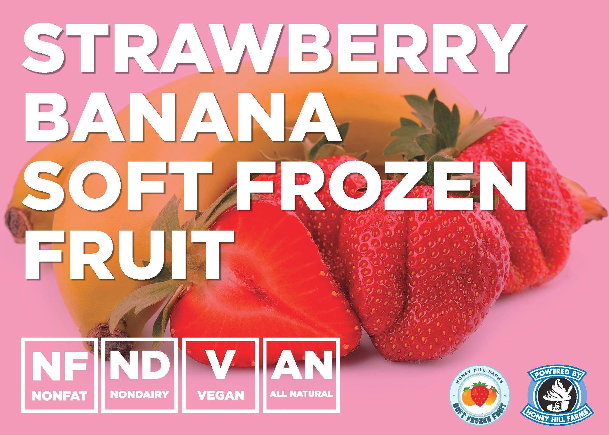 Strawberry Banana Soft Frozen Fruit