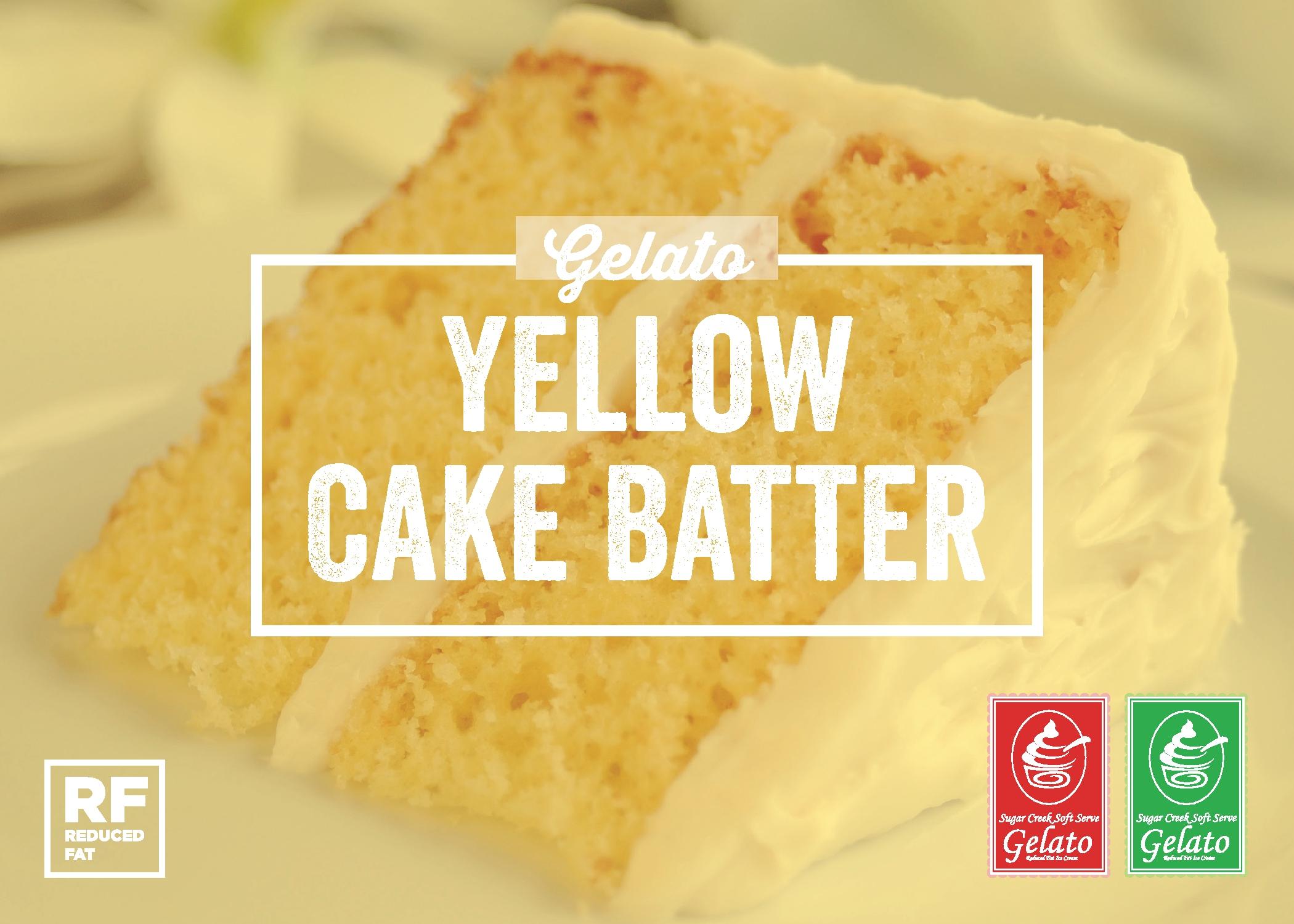 Yellow Cake Batter Gelato